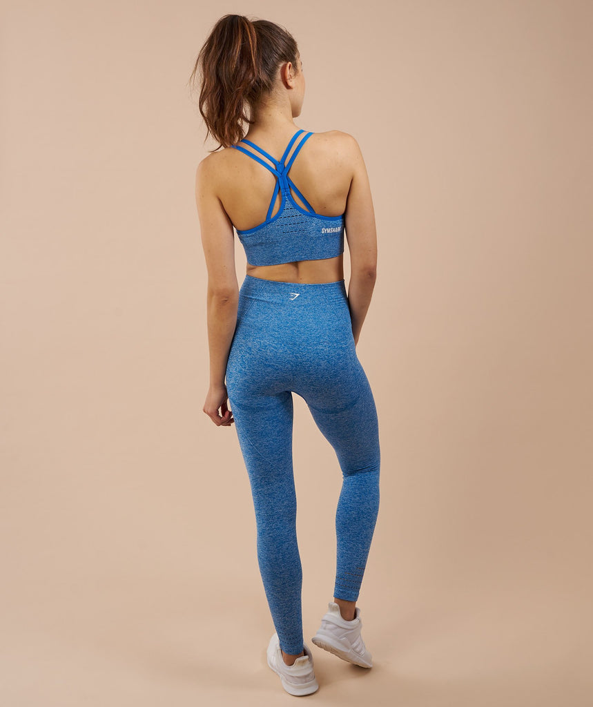 Gymshark Seamless Cross Back Sports Bra - Blueberry 2