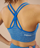 Gymshark Seamless Cross Back Sports Bra - Blueberry 11