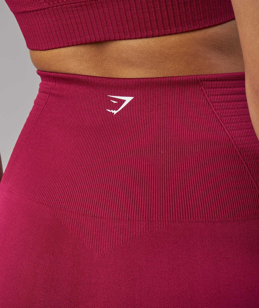 Gymshark Seamless Energy High Waisted Cropped Leggings - Beet 5