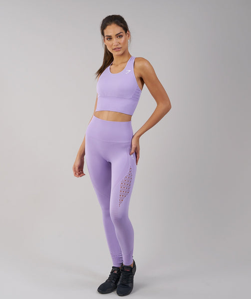 Pinkgymgirl Squishy Collection : Gymshark Energy Seamless Crop Vest - Pastel Lilac 2
