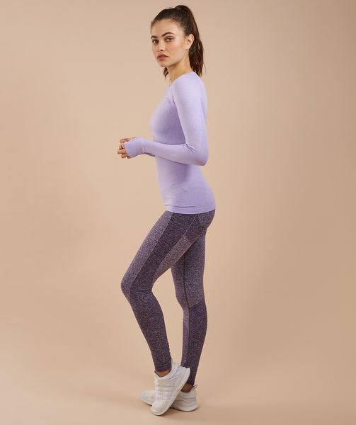 Gymshark Seamless Long Sleeve Top - Soft Lilac Marl 2