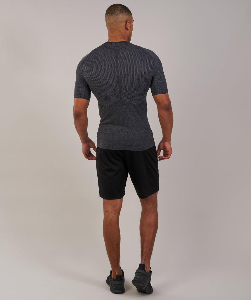 Gymshark Performance Seamless T-Shirt - Black Marl 2