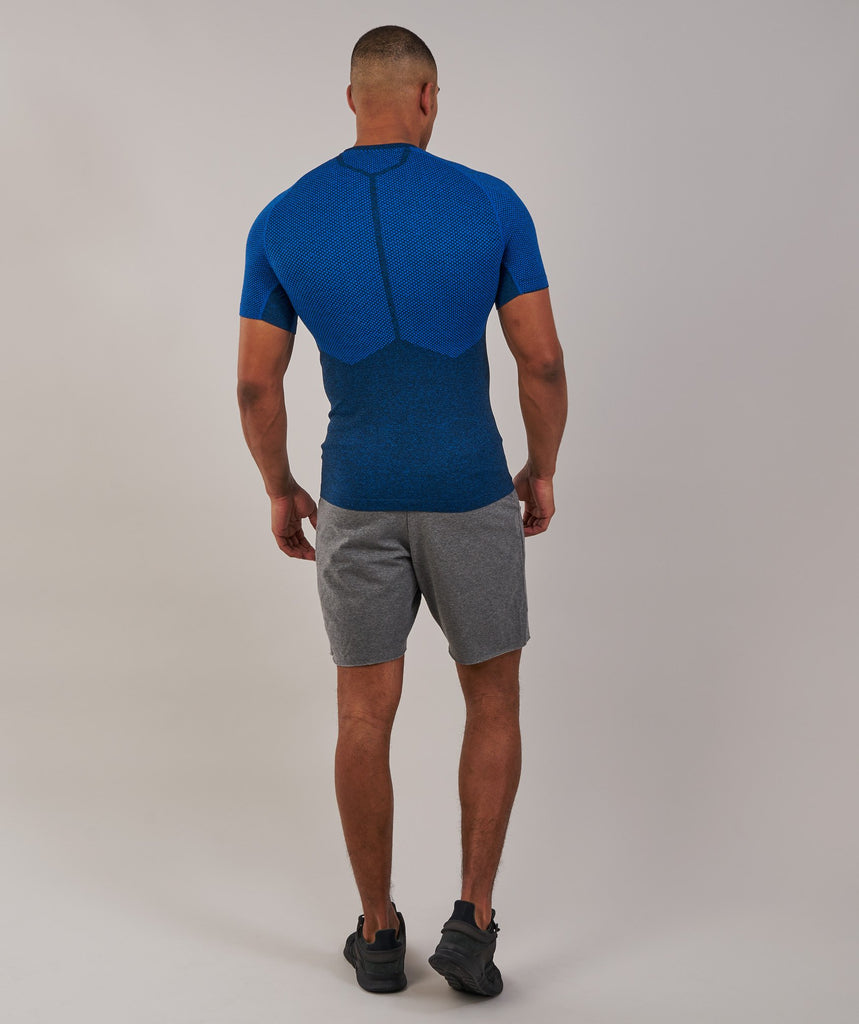 Gymshark Performance Seamless T-Shirt - Dive Blue Marl 2