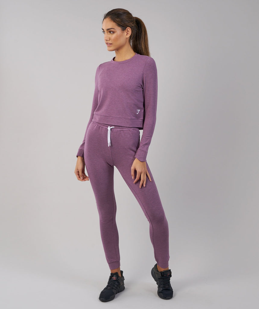 Gymshark Solace Sweater - Purple Wash Marl 1