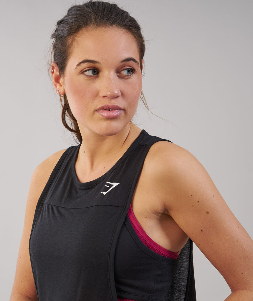 Gymshark Two in One Tank - Black 2