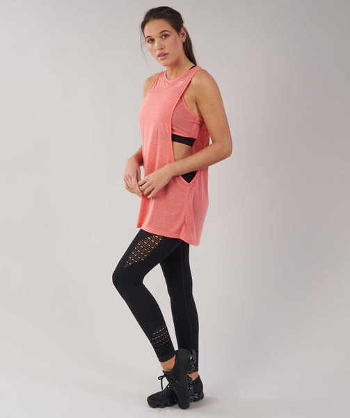 Gymshark Two in One Tank - Peach Coral 3
