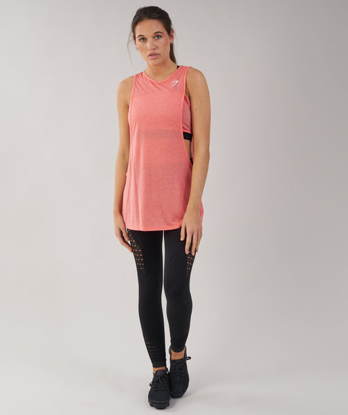 Gymshark Two in One Tank - Peach Coral 4