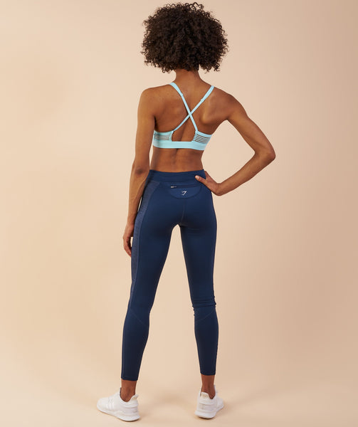 Gymshark Winter Running Leggings - Sapphire Blue 1