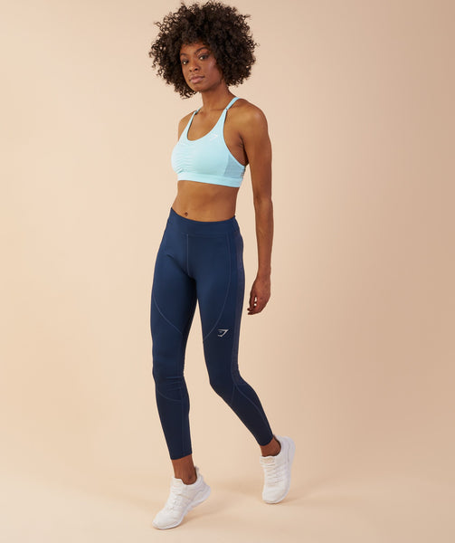Gymshark Winter Running Leggings - Sapphire Blue 4