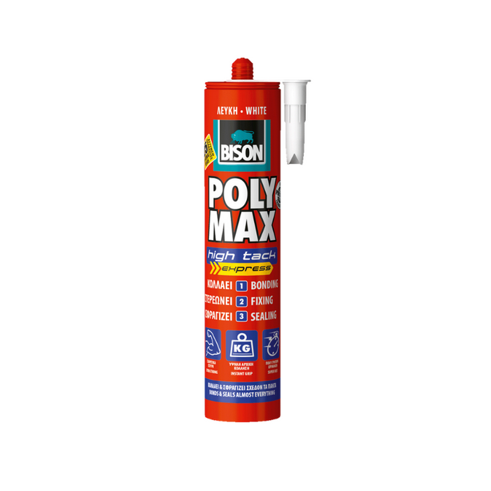 ΚΟΛΛΑ BISON POLYMAX HIGH TACK EXPRESS ΛΕΥΚΗ 22632 425GR