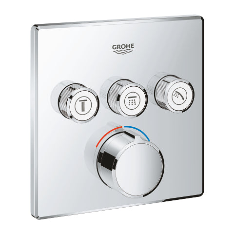 SMART CONTROL MIXER TRIMSET SQUARE 3SC (ΜΟΝΟ ΕΞΩΤΕΡΙΚΑ ΜΕΡΗ) GROHE 29149000