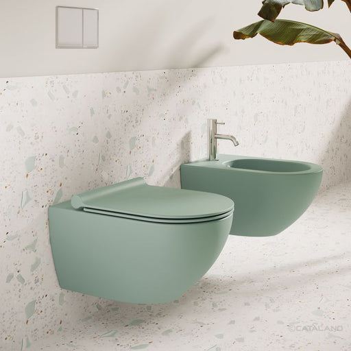CATALANO wc Newflush 54x35 (New flush without rim). Satin green. - eshop by KATOGLOU.com (4429533642822)