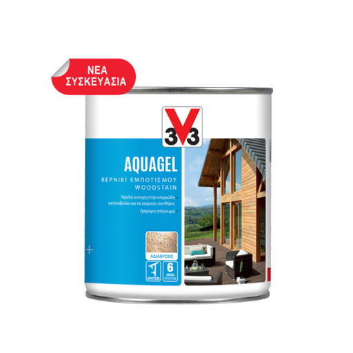 3V3 ΒΕΡΝΙΚΙ H2O AQUAGEL - (Medium oak) Δρυς μεσαία 750ML - eshop by KATOGLOU.com (4442109214790)