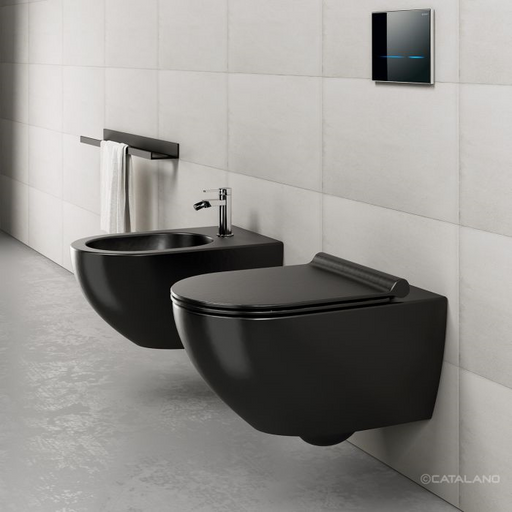 CATALANO wc Newflush 54x35 (New flush without rim). Satin black. - eshop by KATOGLOU.com (4429533118534)
