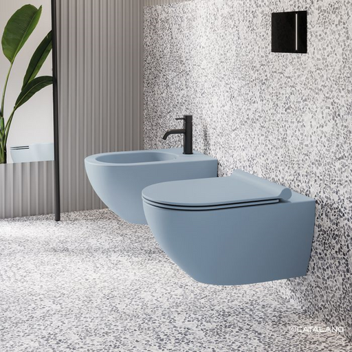 CATALANO wc Newflush 54x35 (New flush without rim). Satin blue. - eshop by KATOGLOU.com (4429533151302)