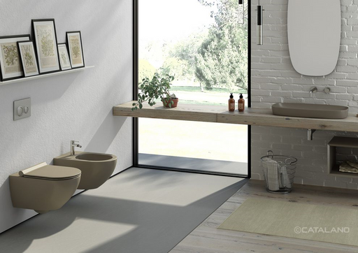 CATALANO wc Newflush 54x35 (New flush without rim). Satin brown. - eshop by KATOGLOU.com (4429533184070)