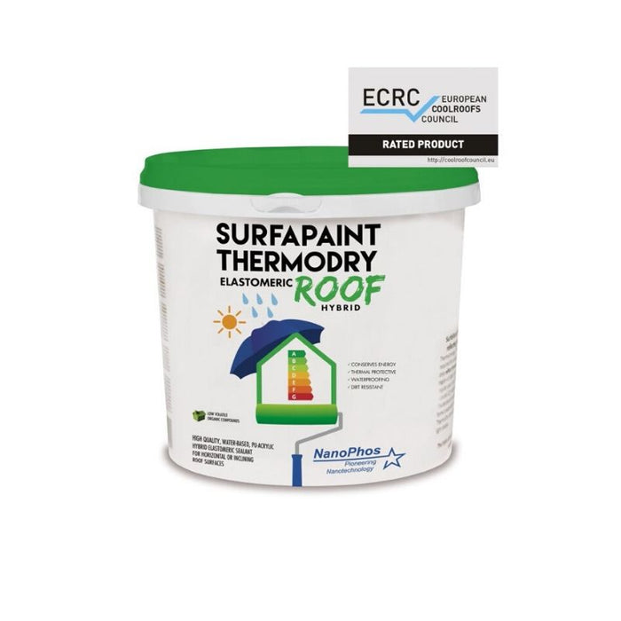 SURFAPAINT THERMODRY ELASTOMERIC ROOF PAINT HYBRID 10L - eshop by KATOGLOU.com (4438398730310)