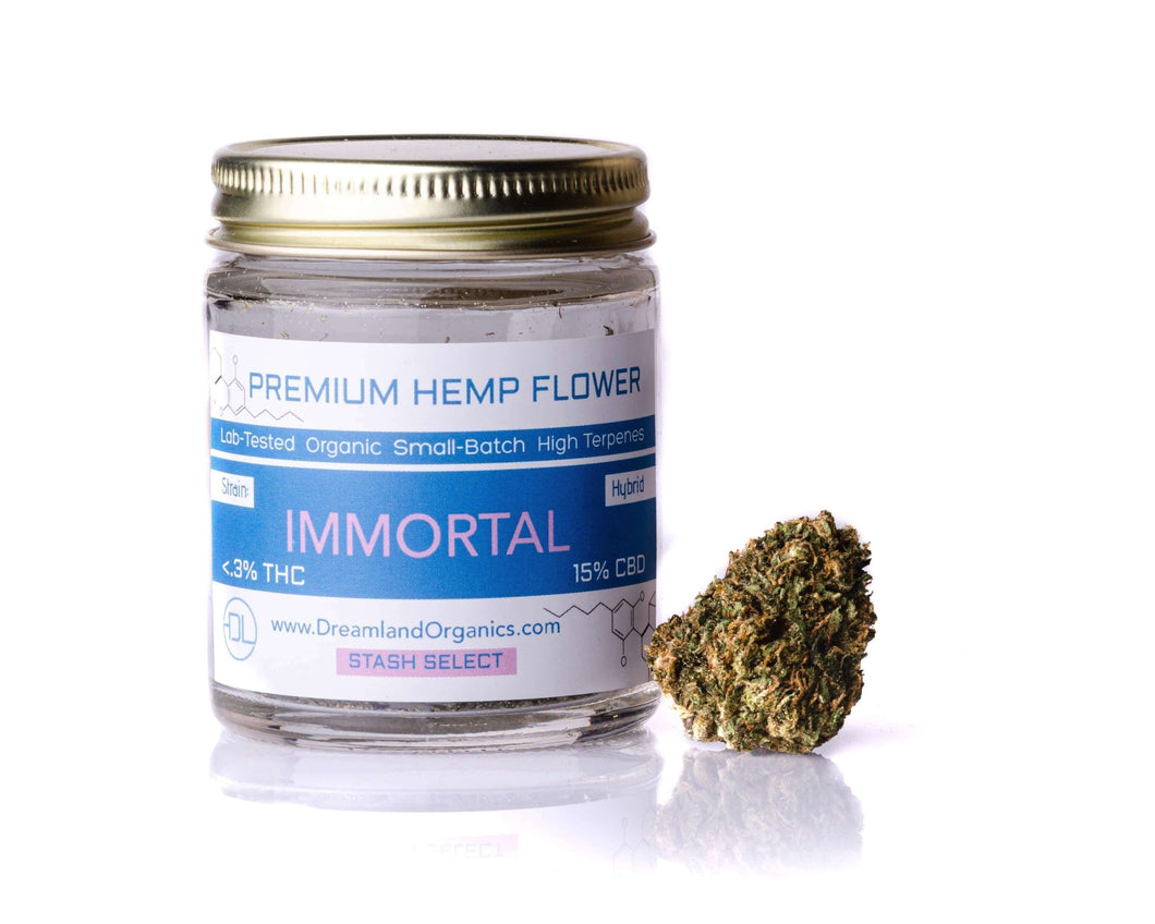 Immortal - Craft Organic CBD Hemp Flower - Dreamland Organics