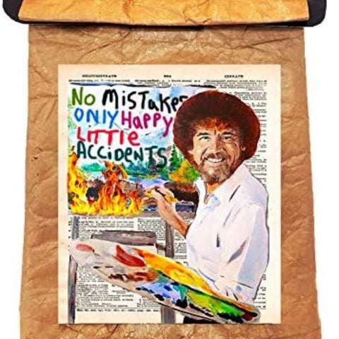 Bob Ross Re-usable Lunch Bag