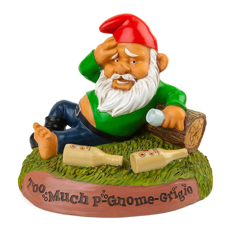 Too Much P-Gnome-Grigio Garden Gnome