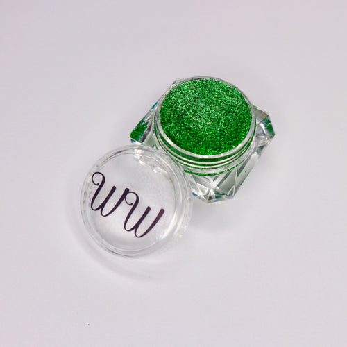 Enemy green gel liner for makeup made by wispy winks