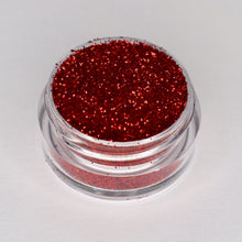 Load image into Gallery viewer, candy apple deep red sparkling cosmetic glitter by wispy winks
