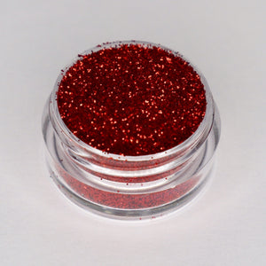 candy apple deep red sparkling cosmetic glitter by wispy winks