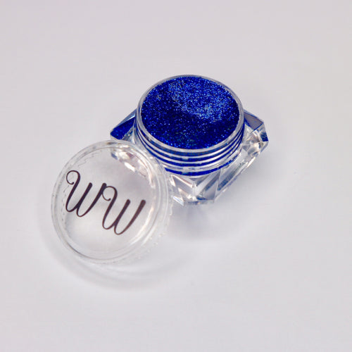 Royalty royal blue gel liner for makeup made by wispy winks