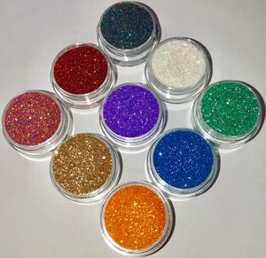 cosmetic glitter multi coloured sparkling and shiny by wispy winks