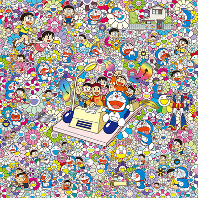 On an Endless Journey on a Time Machine with the Author Fujiko F. Fujio! (Lithograph)