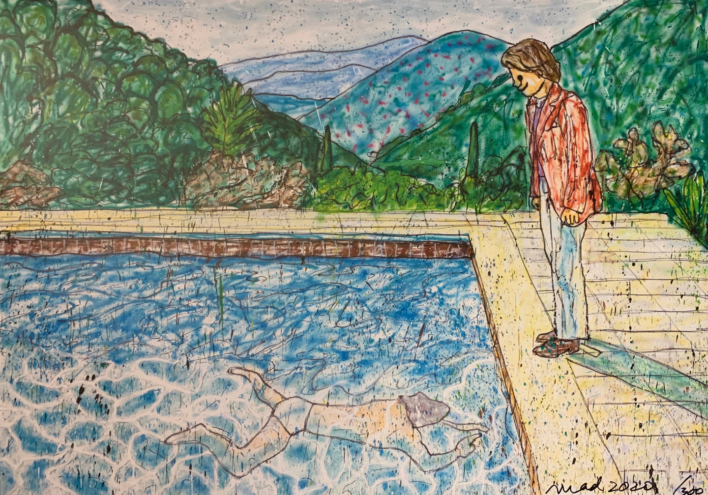Portrait of an Artist (Pool with Two Figures) Ⅱ (inspired by David Hockney)