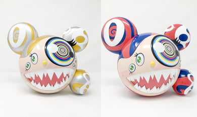Takashi Murakami 'ComplexCon - Mr. DOB Edition' Blue Red & Gold  Figures by BAIT x SWITCH