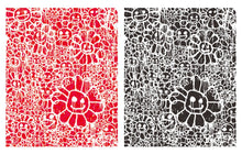 Load image into Gallery viewer, Murakami x Madsaki - Flowers Red A & Flowers Black A