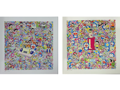 Doraemon silkscreen set (Two artworks)