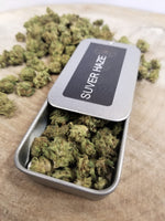 Suver Haze CBD Buds in a tin