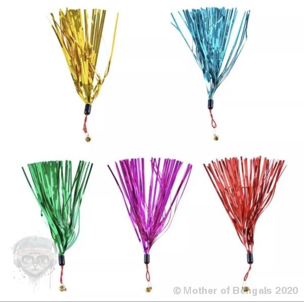 Colorful Crinkle Teaser Refill Cat Wand Refill Mother of Bengals