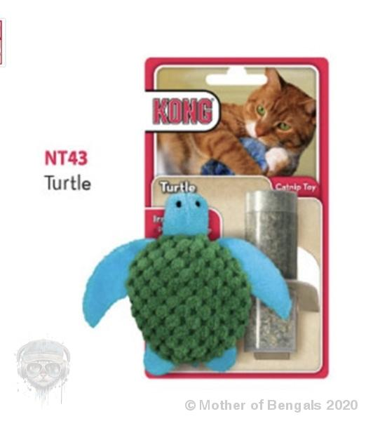 Kong® Refillable Catnip Toy - Turtle Mother of Bengals