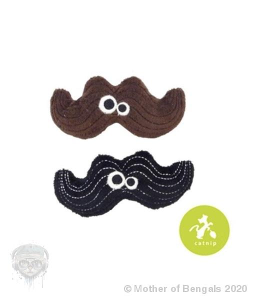 Mad Cat® Magic Meowstache Twin Pack - CAT TOY w/Catnip Mother of Bengals