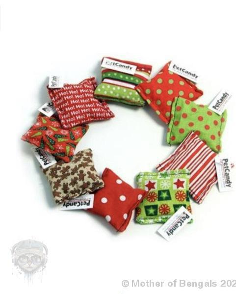 Pet Candy Christmas Catnip Kittles,assorted colors Pet Candy