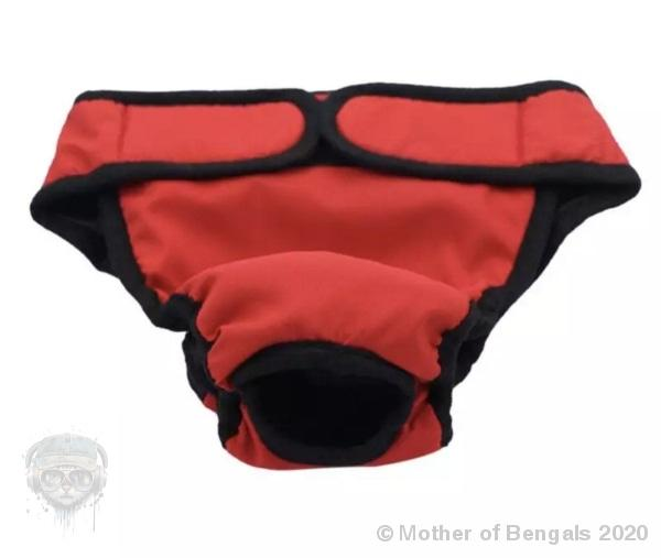 Pet Training Pants 👖 Mother of Bengals Red Small