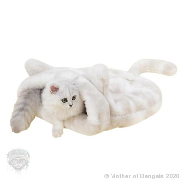 "Plush Sleeping Bag Mother of Bengals Creme 21""x 21"""