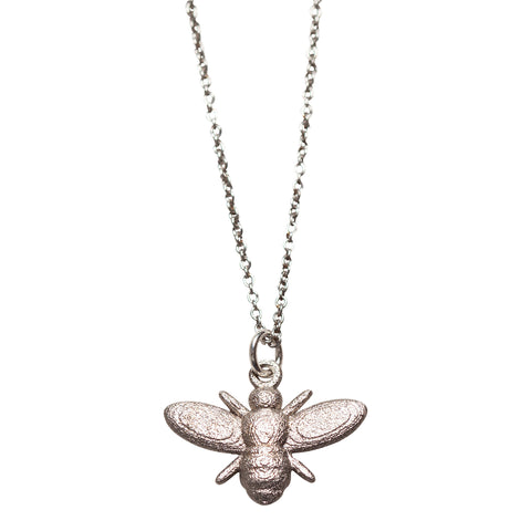 Grey Steel Bee Necklace