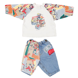 Vintage Baby Guess sports print 2 piece Set size 3m