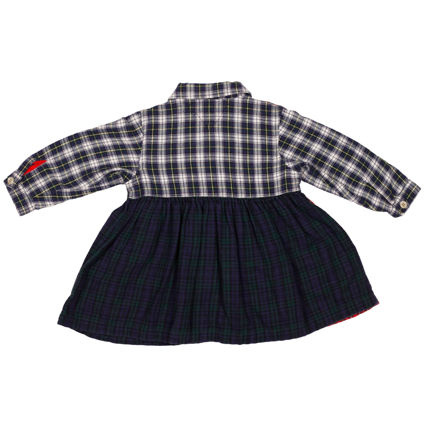 90's Tommy Hilfiger multi plaid dress size 12/18m