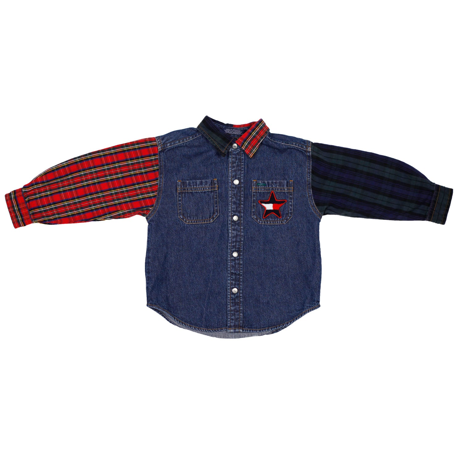 Tommy Hilfiger Denim Plaid 2 piece set size size 3T