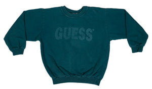 90's Guess ? Spell Out Sweatshirt size Youth M