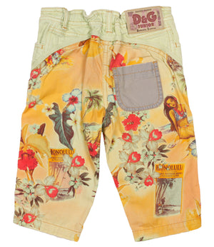 D &G Junior Hawaiian Cropped pants size 3