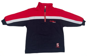 FUBU Sports Quarter Zip Long Sleeve Pullover size S (2T)