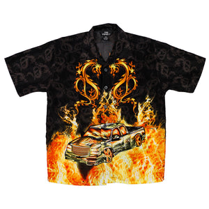 Low Rider Flames Button up size 8/10
