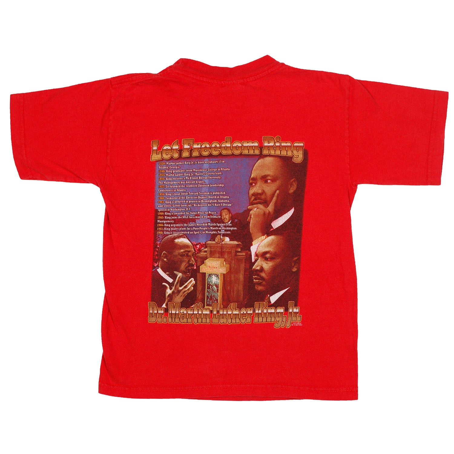 Martin Luther King Jr. Double sided tee size 6
